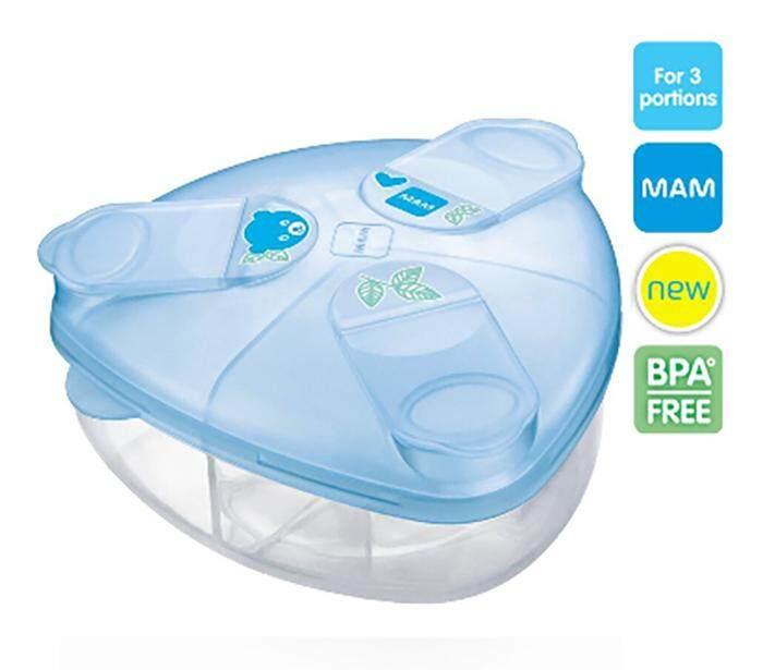 Mam กล่องแบ่งนมผง Bpa Free - สีฟ้า.