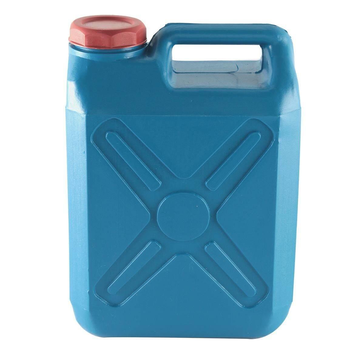 Bd&p Shop ถังใส่น้ำมัน ถังแกลลอนพลาสติก 10 ลิตร ขนาด 23x52x36ซม.สีฟ้า.