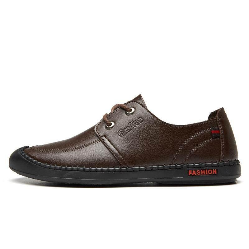 Mens sepatu 2018 musim semi baru mens ultra-ribuan bisnis kulit sepatu kasual sepatu kulit produsen grosir generasi Black