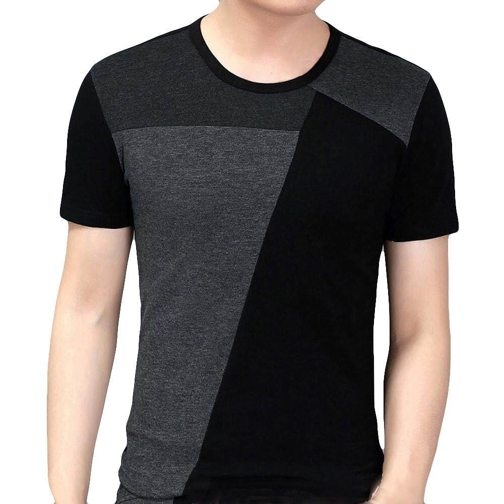 a5ddd4f21 Personality Splicing Mens Tops Leisure Self Cultivation Short Sleeves T  Shirts MML