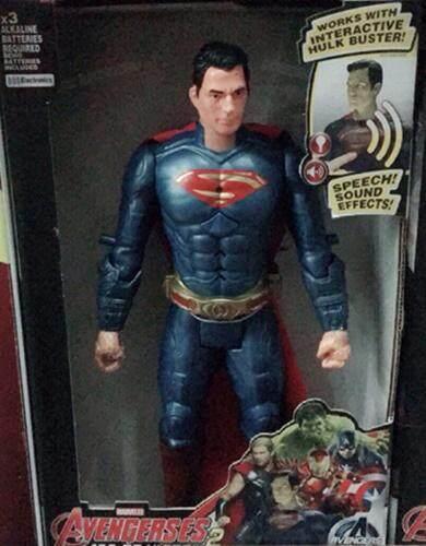 Nada By Shop โมเดลหุ่นsuperman ซุปเปอร์แมน (hero Avengers) ความสูง 12 นิ้ว มีเสียงมีไฟ.