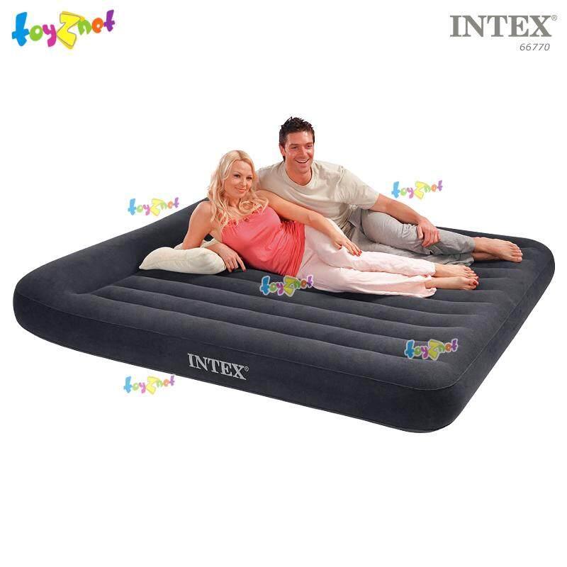 Intex ที่นอนเป่าลม 6 ฟุต (คิง) มีที่หนุนหัวในตัว 1.83x2.03x0.23 ม. รุ่น 66770.