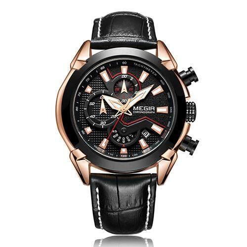 013a9fd18dc MEGIR 2065 Creative Quartz Men Watch Leather Chronograph Army Military  Sport Watches Clock Men Relogio Masculino