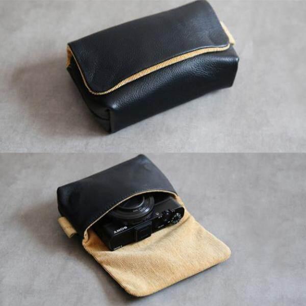 กระเป๋ากล้อง หนังแท้ Ricoh GR GR2 FujiX70 Case Cover Bag สีดำ