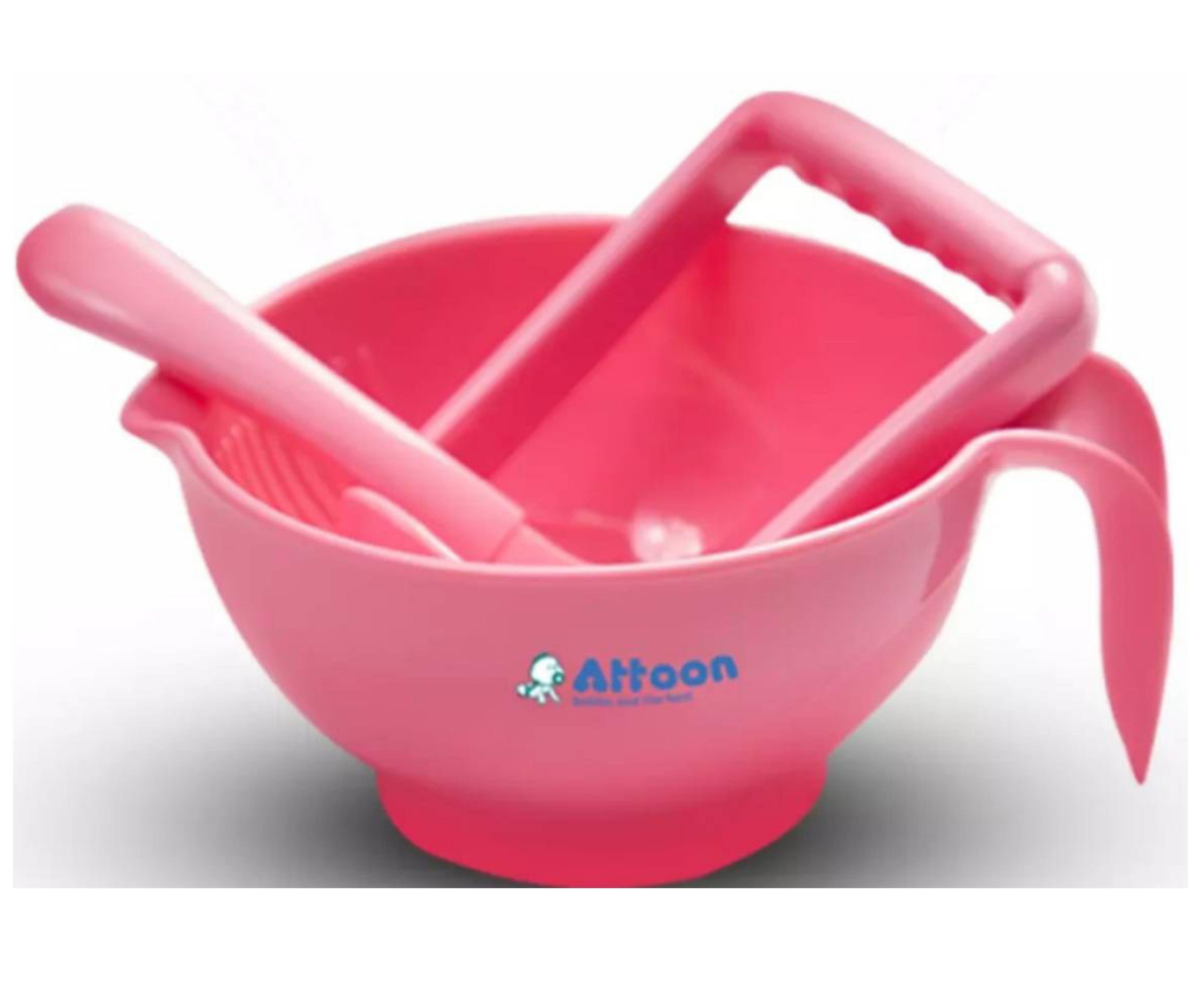 (มีคูปองส่งฟรี) ATTOON ชามบดอาหารเด็ก แอทตูน ถ้วยบดอาหาร ชุดชามบดอาหาร มีมอก. ชุดเตรียมอาหารเด็ก ชามใส่อาหารเด็ก มี3สีให้เลือก