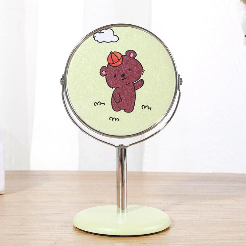 【Pinkpanda】กระจกแต่งหน้า กระจกหมุนตกแต่งบนโต๊ะ กระจกบานเล็ก กระจกแต่งหน้าแบบตั้งโต๊ะ กระจกตั้งโต๊ะหมุนได้ 360 องศา Makeup Mirror