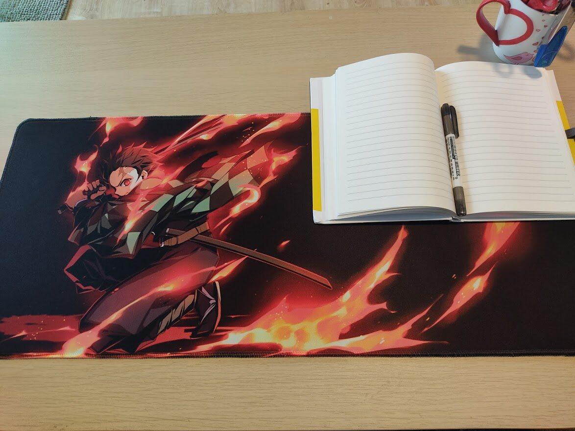 แผ่นรองเมาส์ แผ่นรองเขียน 80x30 และ 70x30 ขนาดใหญ่ ลายการ์ตูน อนิเมะ เกมส์ Gaming Mousepad Anime Game