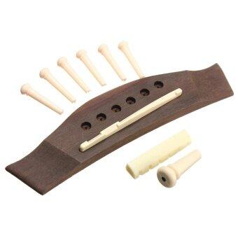 1 Set Professional Universal Acoustic Guitar Bridge + Bone Bridge Pins/Saddle/Nut Saddle Guitar Parts & Accessories - intl