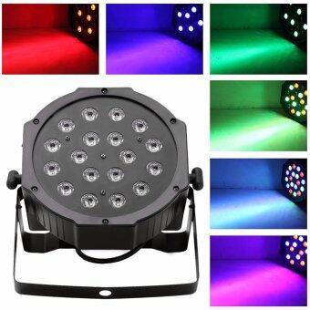 18*3W LED RGB PAR CAN DJ Stage DMX Lighting For Disco Wedding Uplighting EU Plug