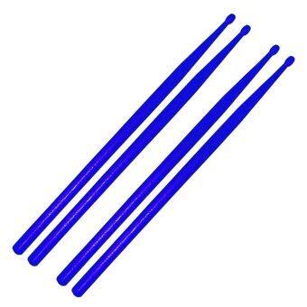 ไม้ตีกลองชุด ไม้ตีกลองพลาสติก สีน้ำเงิน2คู่ / Plastic Drum Stick 2pairs - Blue / drumstick