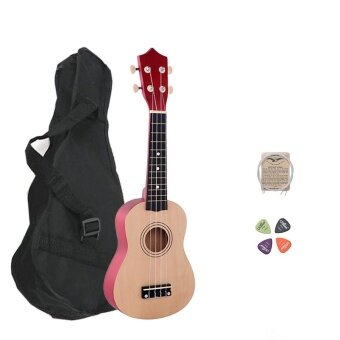 21 Inch Wood Concert Ukulele with Free Bag Spare String UkulelePick - intl