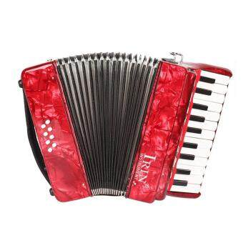 22-Key 8 Bass Piano Accordion with Straps Gloves Cleaning Cloth Educational Music Instrument for Students Beginners Childern - intl