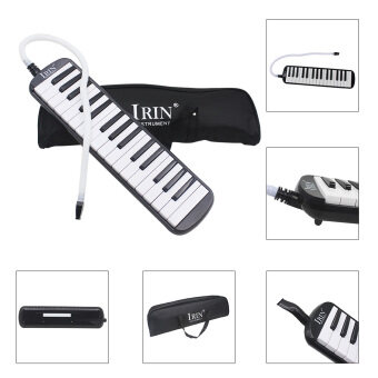 32 Piano Keys Melodica Musical Education Instrument for Beginner Kids Children Gift with Carrying Bag Black - intl