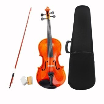 3/4 Violin Fiddle Basswood Steel String Arbor Bow Stringed Instrument Musical Toy for Kids Beginners ^ - intl