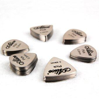 Alice 12pcs Cool Guitar Picks Stainless Steel Pick Thickness 0.30mm