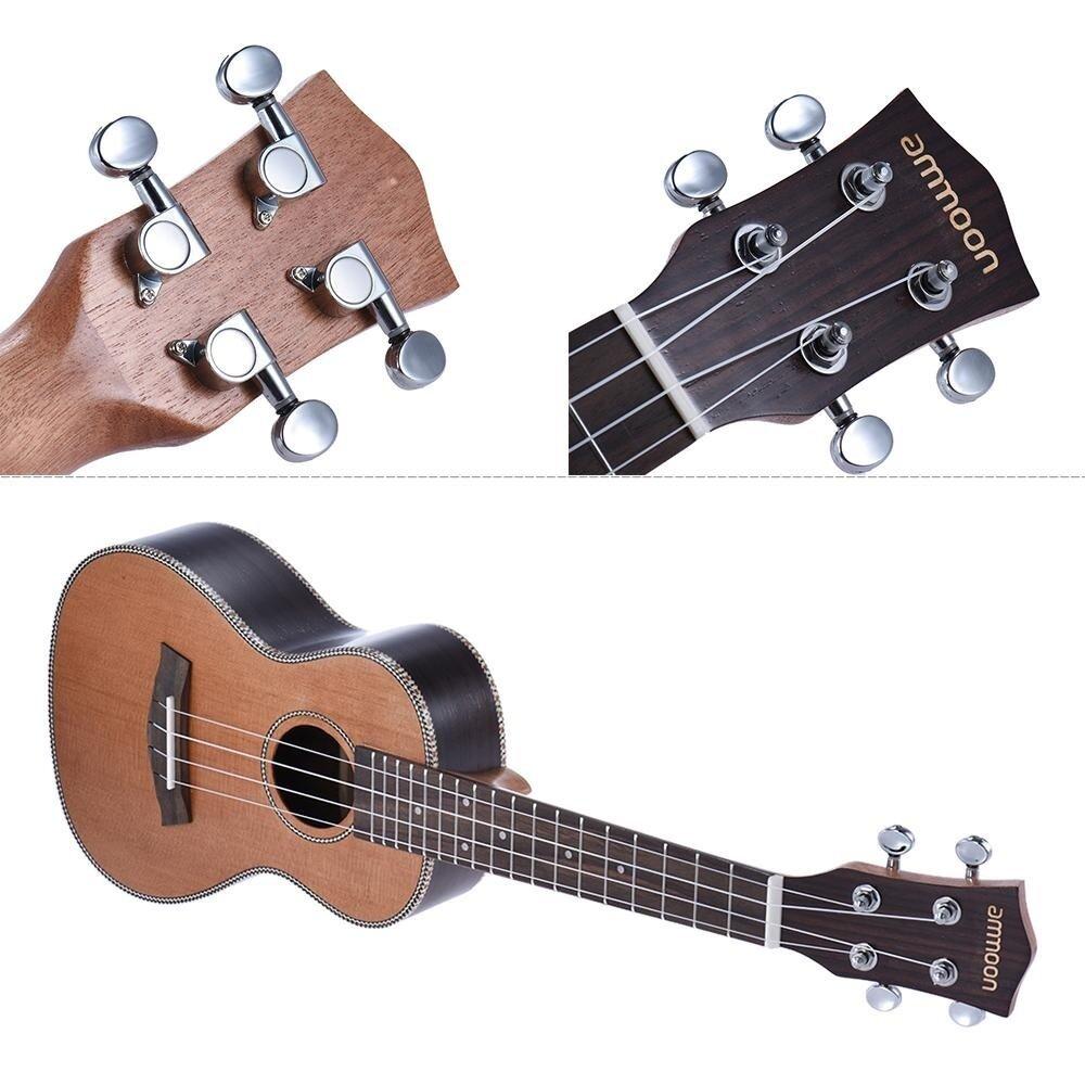 Review Of Ammoon 24 Korean Pine Acoustic Concert Ukulele Ukelele Uke Wooden 18 Frets 4 Strings Okoume Neck Rosewood Fretboard String Instrument Musical