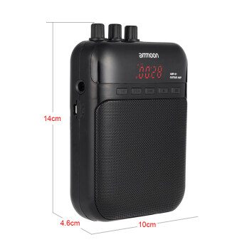 ammoon AMP -01 5W Guitar Amp Recorder Speaker TF Card Slot CompactPortable Multifunction - 4