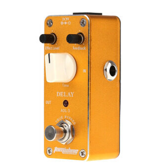 Aroma ADL-3 Mini Delay Electric Guitar Effect Pedal with FastenerTape Aluminum Alloy Housing True Bypass