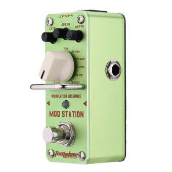 Harga AROMA AMS-3 Mod Station Modulation Ensemble Electric Guitar EffectPedal Mini Single Effect with True Bypass