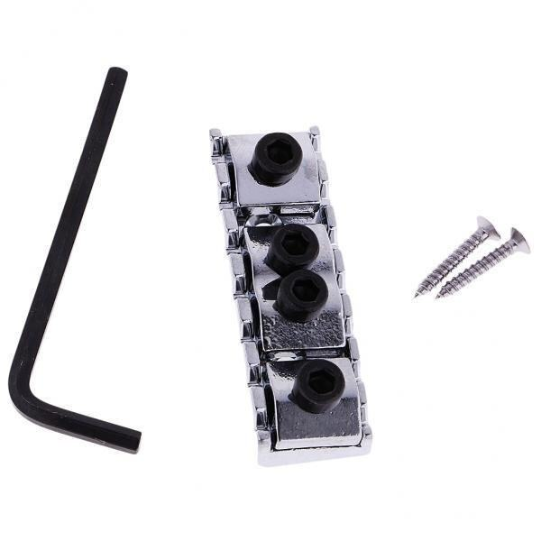 BolehDeals 7 String Electric Guitar Parts Double Locking Nut Bridgewith Wrench Screws - intl .