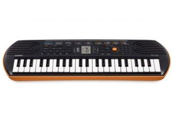 CASIO คีย์บอร์ด SA-76+Adapter AD-5X(2010) - orange