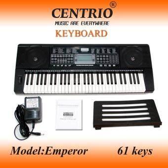 Centrio คีย์บอร์ด 61 คีย์มาตรฐาน รุ่น EMPEROR MP3 Touch Control panel (จอLCD)