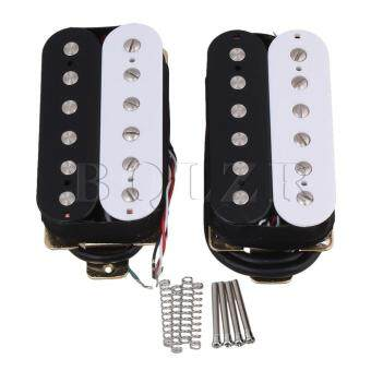 Ceramic Magnets Humbucker Guitar Pickup Set of 2 Black White - intl