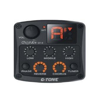 cherub GT-4 G-Tone Tuner 8-Band EQ Tuner(Black) ปรีแอมต์ EQ TUNER ตั้งเสียงกีต้าร์อัตโนมัติ สำหรับกีต้าร์โปร่งไฟฟ้า ที่เสียงดีที่สุด ในตอนนี้แถมฟรี แบตเตอรี่ขนาด 9 V มูลค่า 60 บาท ฟรี
