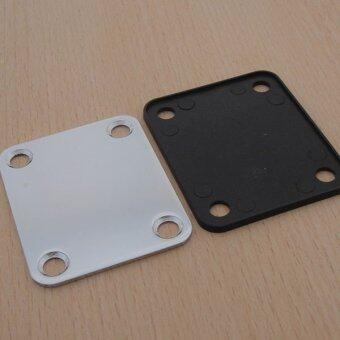 Chrome Electric Guitar Neck Plate Neckplate wit 4 Mounting Screws pantip