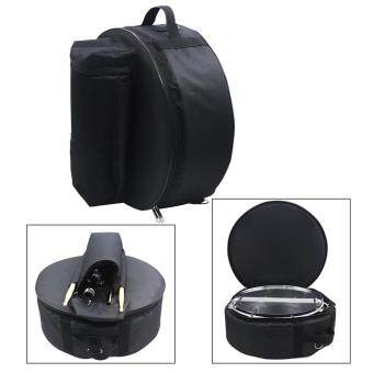 Durable 14 Inch Snare Drum Bag Backpack Case with Shoulder Strap Outside Pockets - intl