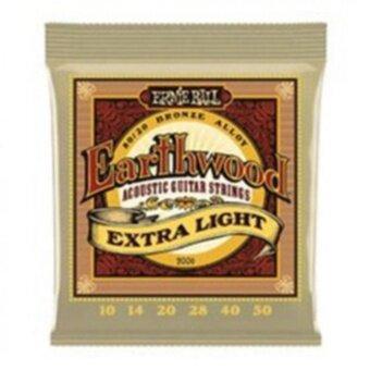 Ernie Ball สายกีตาร์โปร่ง รุ่น Earthwood (Extra Light) เบอร์ 10/50