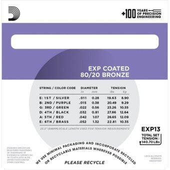 EXP13 Coated 80/20 Bronze, Custom Light, 11-52 (image 2)