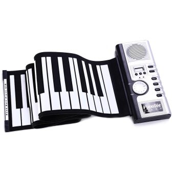 Flexible 61 Keys Silicone MIDI Digital Roll-up Keyboard Piano - intl
