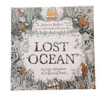 HengSong Secret Garden Lost Ocean and Coloring Book (English) 12pages