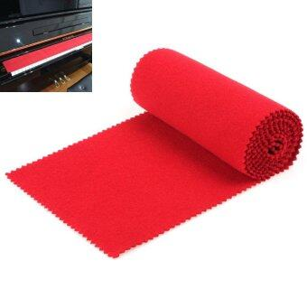Harga Soft Piano Keyboard Dust Cover for Any 88 Key Piano (Red) - intl
