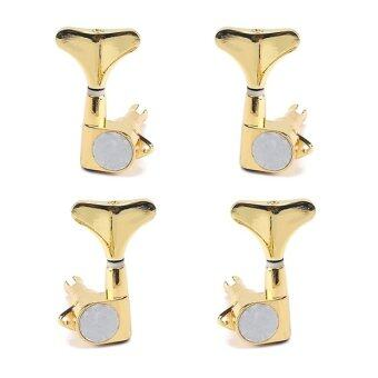 Harga 2R2L Guitar Bass Tuning Pegs Machine Heads Bass Replacement Parts Gold