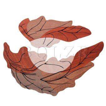 Harga Leaf Design Acoustic Guitar Wood Pickguard Orange
