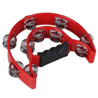 Harga Musical Tambourine Double bell for KTV or Party Red