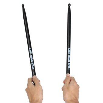 Harga New Black Maple Wood Drum Sticks 5A Wood Tip Drumsticks 1 Pair- INTL
