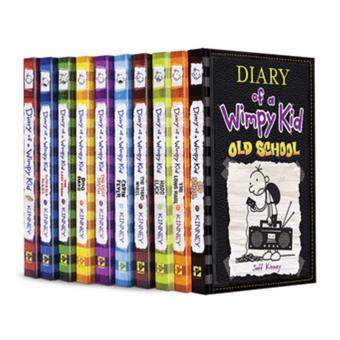 Harga Jeff Kinney : Diary of a Wimpy Kid 10 books Collection : OldSchool, Dog Days, Cabin Fever etc