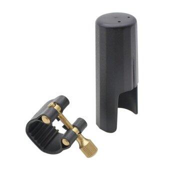 Leather Ligature Fastener with Plastic Cap for Tenor Sax Saxphone Bakelite Mouthpiece ^ - intl