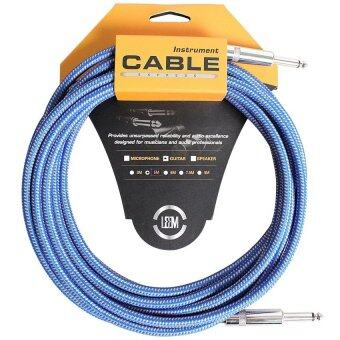 LEEM สายแจ็ค ถัก Weave Guitar Cable16.6ft./5.0m.O.D-7.5mm.FGCII5D-BL/OR