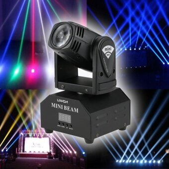 Lixada LED Stage Effect Lamp Total 50W Rotating Moving Head DMX512 Sound Activated Master-slave Auto Running 11/13 Channels RGBW Color Changing Beam Light for Disco KTV Club Party - intl