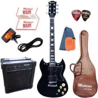 Matrixss กีตาร์ไฟฟ้า Electric Guitar รุ่น SG-30BK Set