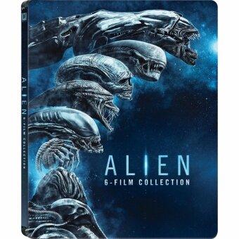 Media Play Alien 6-Film Collection (Steelbook) with Collector's Cards เอเลี่ยน คอลเล็คชั่น (กล่องเหล็ก 6 แผ่น) พร้อมโปสการ์ดใบปิดต้นตำรับ