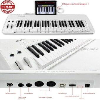 เปียโนไฟฟ้า Midiplus Easy Piano 49 keyกับสเป็คมาเต็ม คีย์มีนํ้าหนักแบบ Semi Weight คีย์สามารถเล่นหนักเบาได้ ( Velocity Sensitive ) และมาพร้อมลำโพงในตัว
