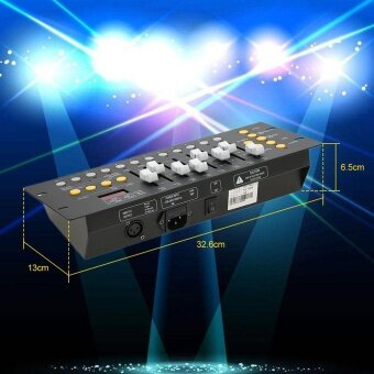 Mini 192 Channels DMX512 Controller Console Stage Lighting OperatorEquipment for Party Bar DJ Club School Concert - intl