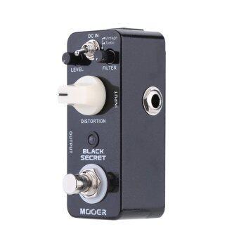 Mooer สีดำปกปิดบิดเบือนกีต้าร์ไฟฟ้าขนาดเล็กมินิเหยียบข้ามมีผลจริง