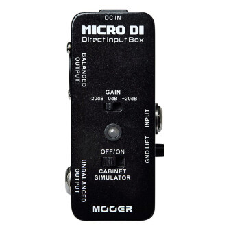 Mooer Micro DI Direct Input Box Distortion Effect Pedal MDI1