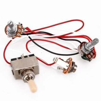 Harga New Electric Guitar Wiring Harness Kit 3 Way Toggle Switch 1V1T ForLP Guitar 500K - intl